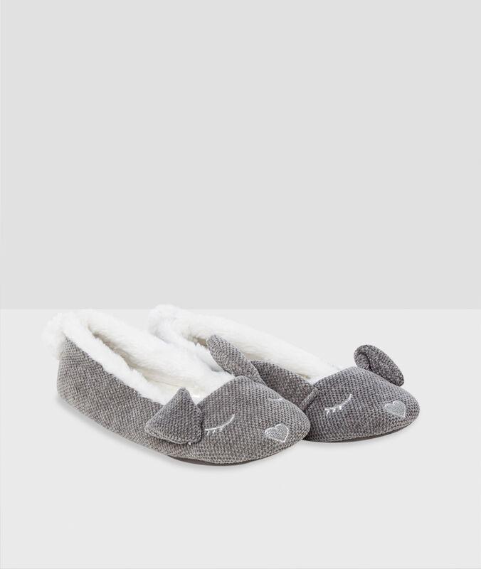 Zapatillas forradas conejo c.gris.