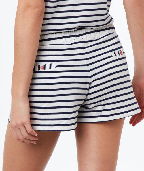 Pantalón corto rayas marineras