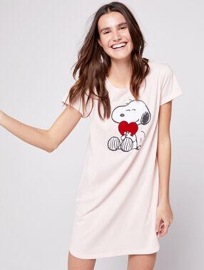 Chemise de nuit imprimé snoopy blush.