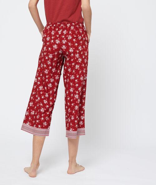 Pantalón capri estampado bajo holgado
