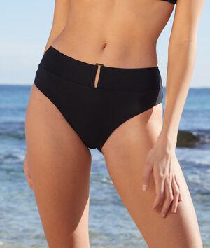 Braguita bikini talle alto, hebilla decorativa;${refinementColor}