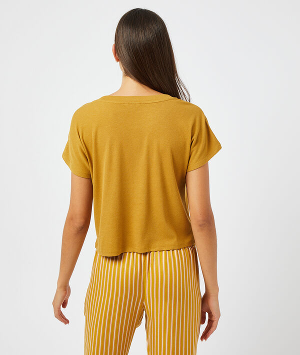 Camiseta manga corta lisa;${refinementColor}