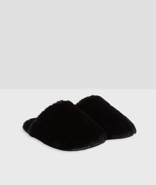 Zapatillas peludas con forro