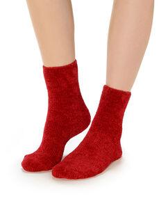 Calcetines lisos rojo.