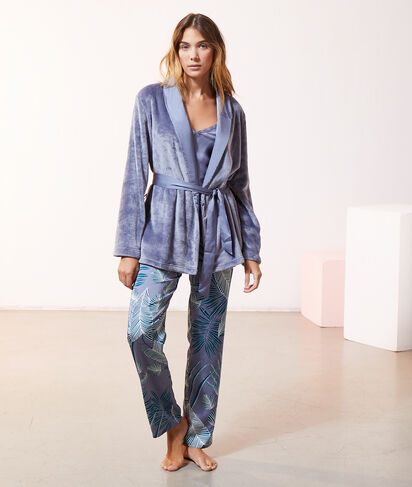 Pyjama 3 pièces satin et pilou pilou;${refinementColor}