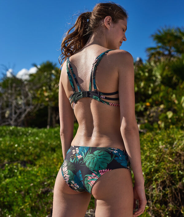 Culote bikini estampado tropical