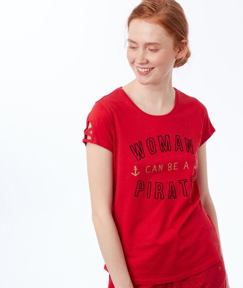 Camiseta manga corta pirata