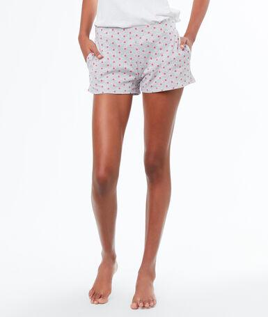 Pantalón corto estampado de lunares c.gris.