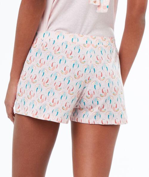 Pantalón corto estampado tucanes