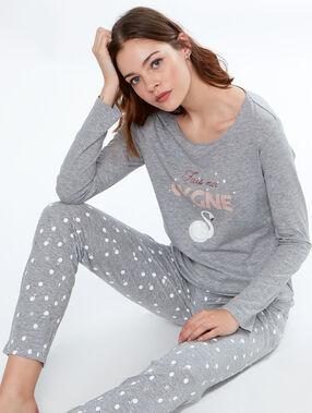 Camiseta manga larga cisne c.gris.