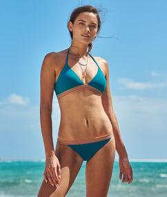 Braguita bikini franja multicolor turquesa.