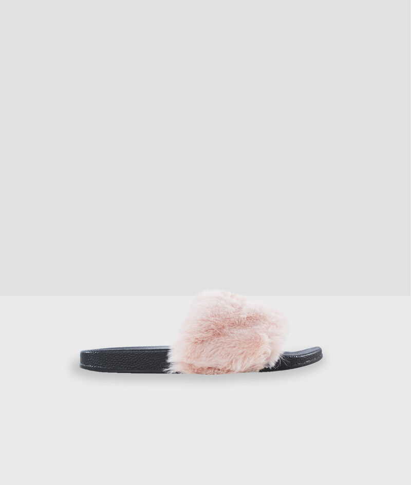 Zapatillas con tejido tipo peluche;${refinementColor}