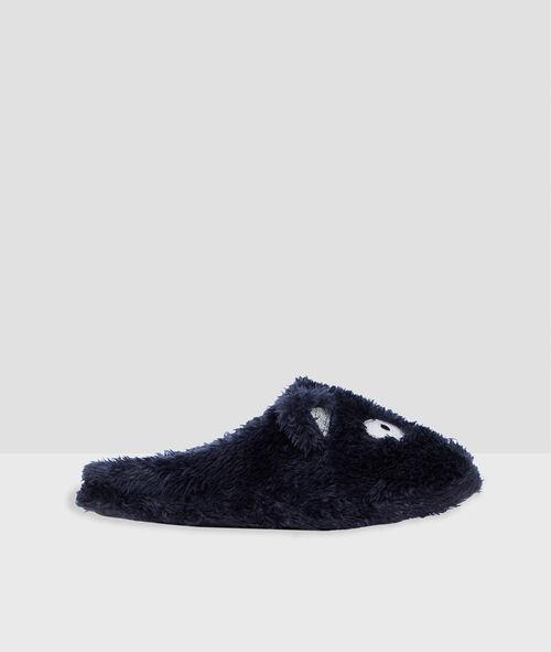 Zapatillas tejido peluche gato