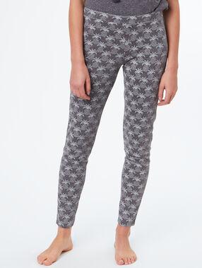 Pantalón tipo leggings estampado c.gris.