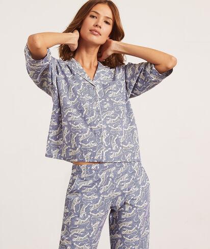 Camisa pijama estampado tigres;${refinementColor}