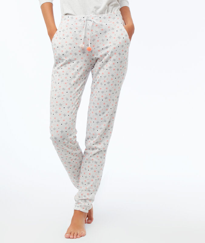 Pantalón estampado c.gris claro.