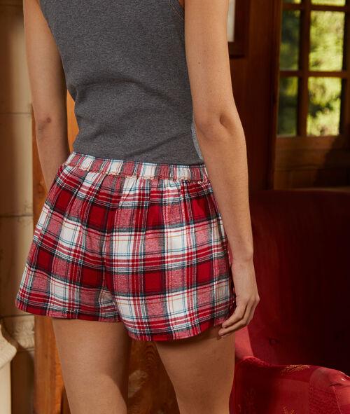 Pantalón corto estampado de cuadros