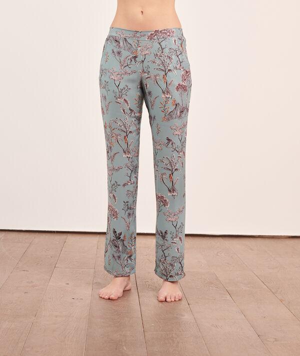 Pantalón pijama estampado selva;${refinementColor}