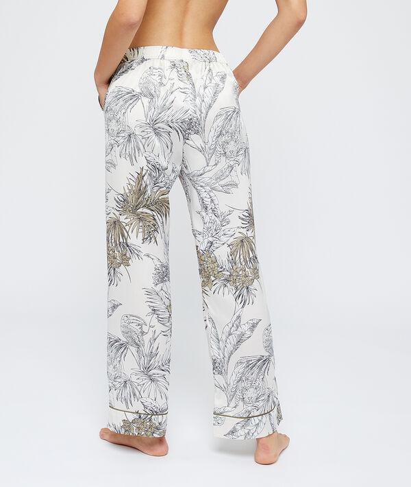 Pantalón pijama estampado hojas;${refinementColor}