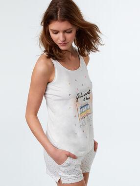 Camiseta estampada c.gris.