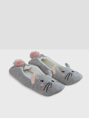 Zapatillas tipo bailarina ratoncitos c.gris.