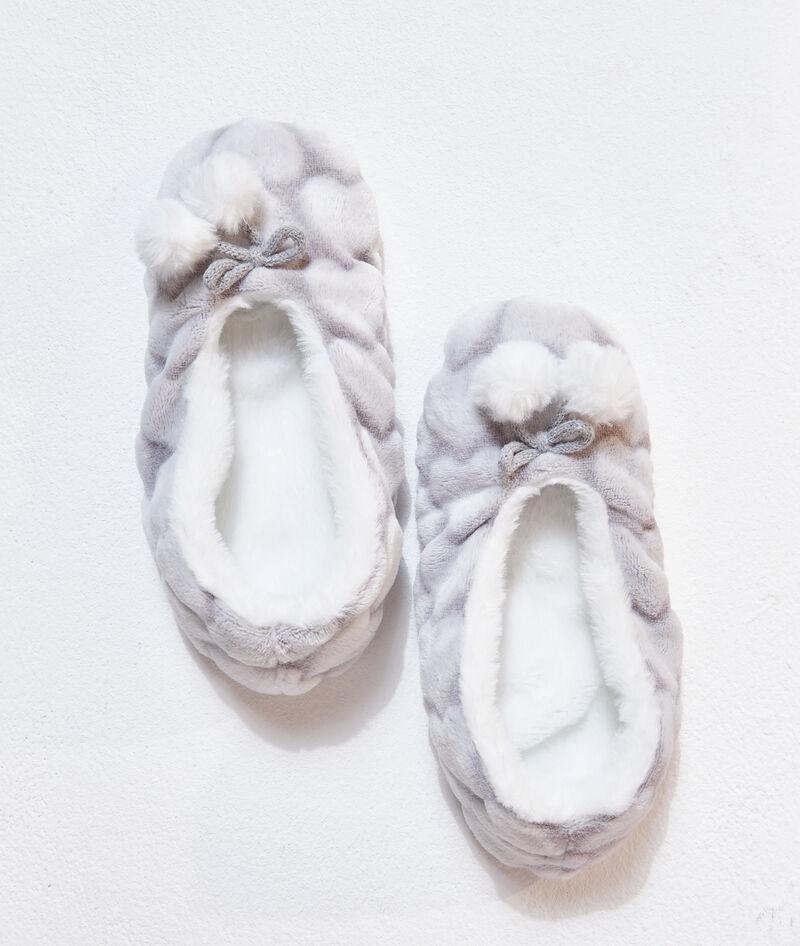 Zapatillas planas estampado de corazones