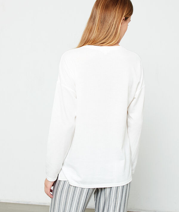 Camiseta lisa manga larga