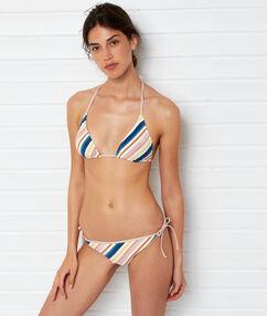 Braguita bikini estampado de rayas imp blanco.