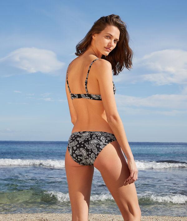 Sujetador bikini push up estampado. Copa B-C;${refinementColor}