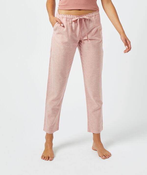 Pantalón anudado cintura;${refinementColor}