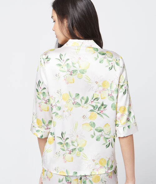 Camisa pijama estampado limones