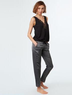 Pantalón satén estampado c.gris.