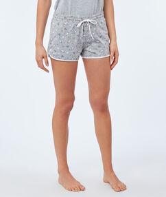 Pantalón corto estampado unicornios c.gris.