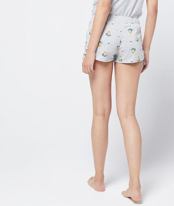 Pantalón corto estampado algodón orgánico