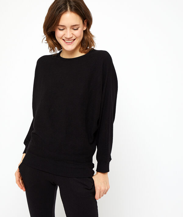 Camiseta holgada tejido canalé