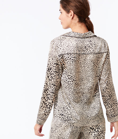 Camisa pijama estampado de leopardo