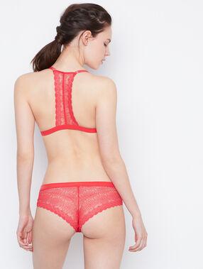 Braguita brasileña encaje rojo.