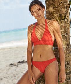 Braguita bikini lisa rojo.