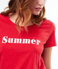 Camiseta summer rojo.