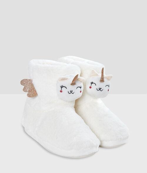 Zapatillas tipo botines unicornios