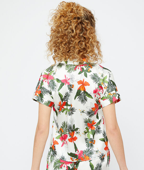 Camisa corta estampado tropical;${refinementColor}