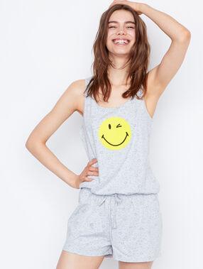 Top estampado smiley c.gris.