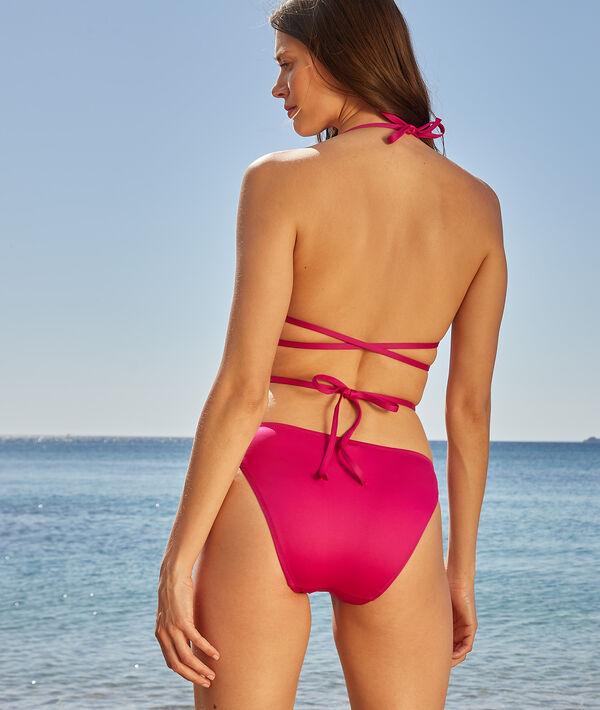 Sujetador bikini triángulo multitiras, sin aros;${refinementColor}