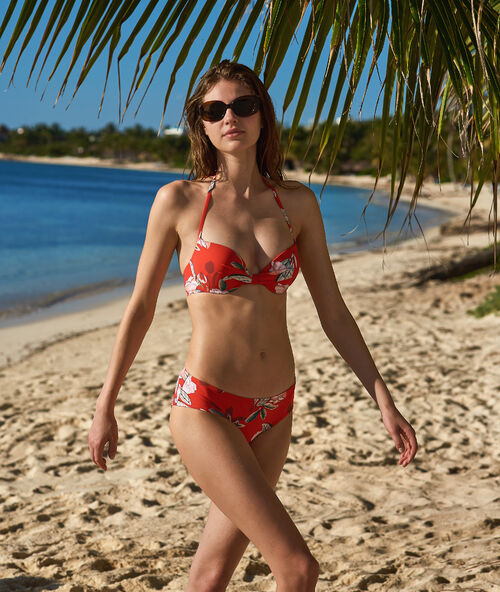 6747878ed2fb Sujetador bikini push up estampado floral. Copa B-C - LAURA - ROJO ...