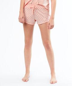 Pantalón corto margaritas rosa.