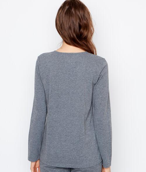 Camiseta manga larga estampada
