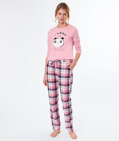 Camiseta manga larga panda