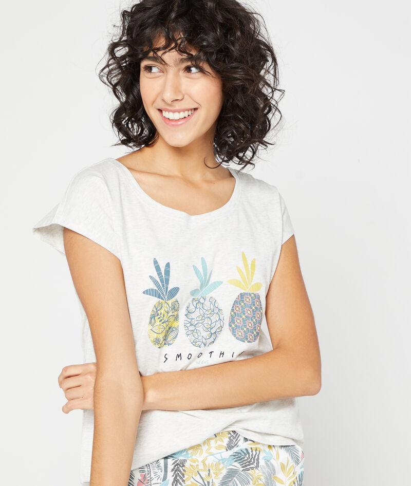 Camiseta estampado piñas