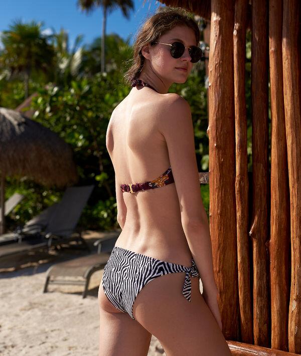Braguita bikini estampado cebra