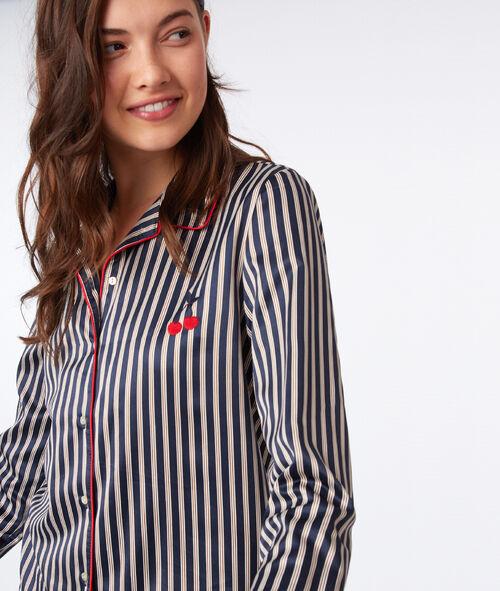 Camisa pijama estampado de rayas